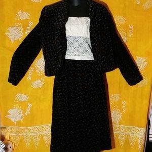 Patty Woodard of California jacket/skirt suit Sm